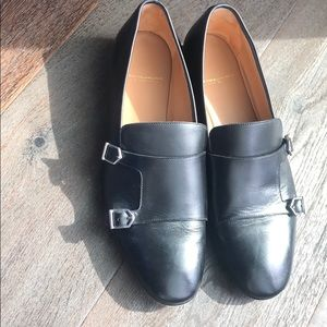 Black Italian leather shoe by Super Glamourous